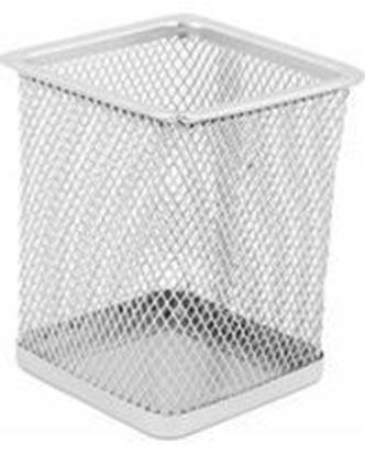 Picture of Чаша за моливи - мрежа (квадрат-сива)