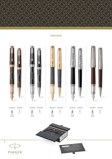 "Слика од ""Parker"" Premier Custom Tartan Black CT (FP) - 18k Gold"
