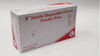 Слика од 9 инчни нитрилни ракавици за една употреба - без талк (Л)