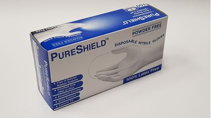 Picture of Disposable Nitrile Gloves - Powder free - (L)